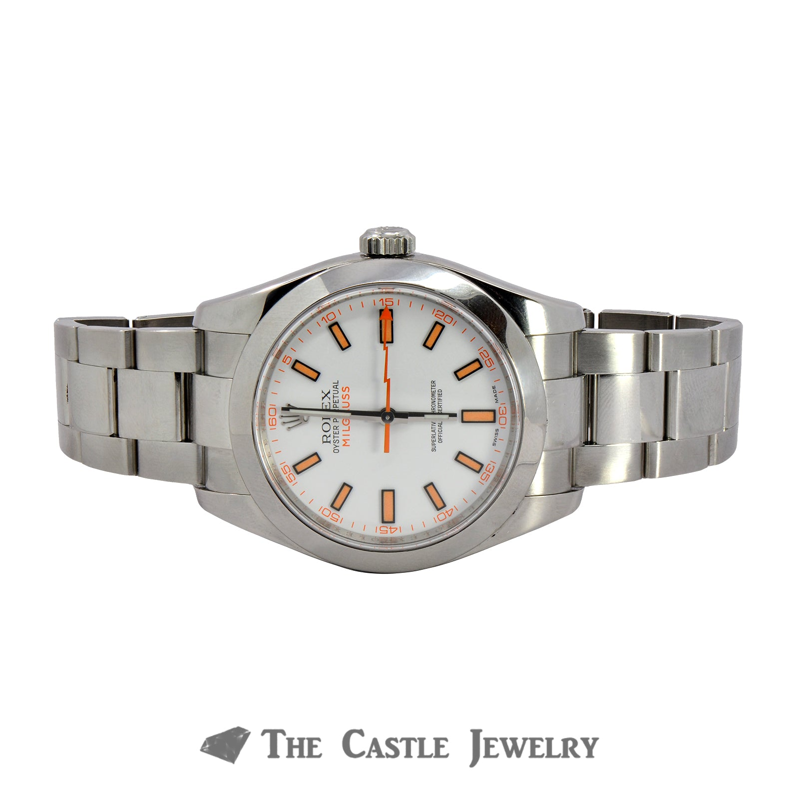 Discontinued Rolex Milgauss Watch  116400 White Dial Oyster Bracelet-5