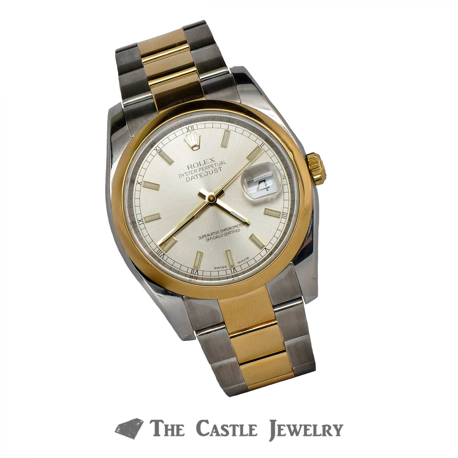 Rolex Datejust 116203 with Silver Dial 18K/Steel Oyster Bracelet-5