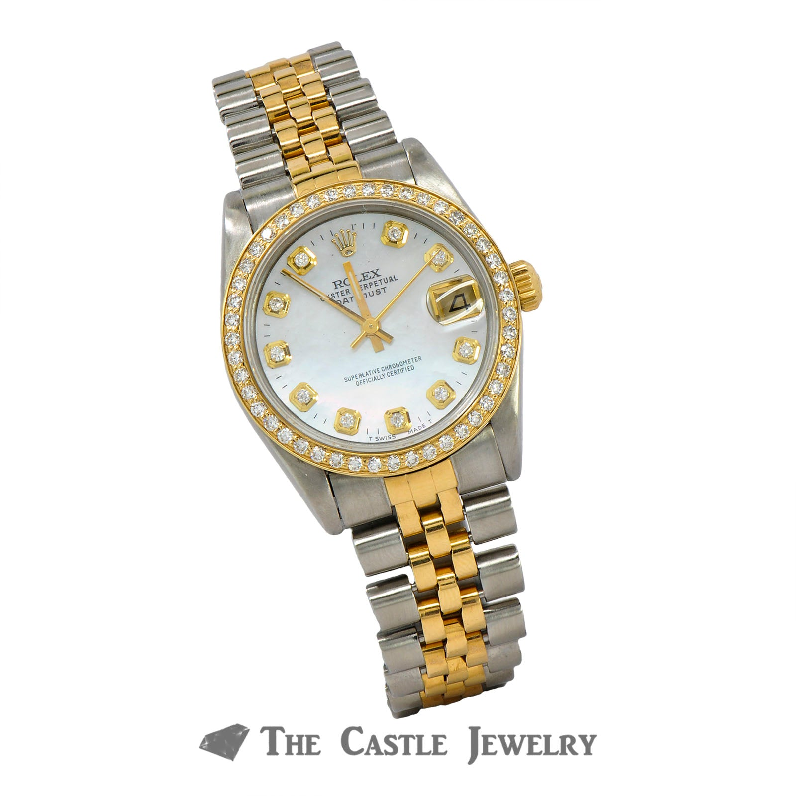 Midsized 31mm Rolex Datejust 18K/SS ref. 68273-2