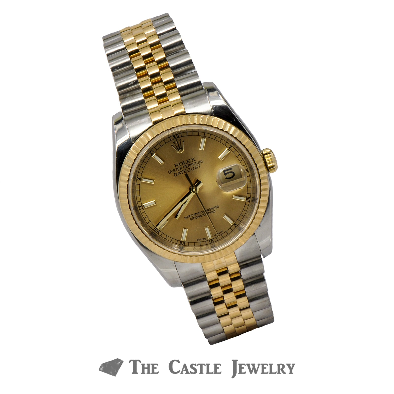 Rolex Datejust 116233 With Champagne Dial and Fluted Bezel-3