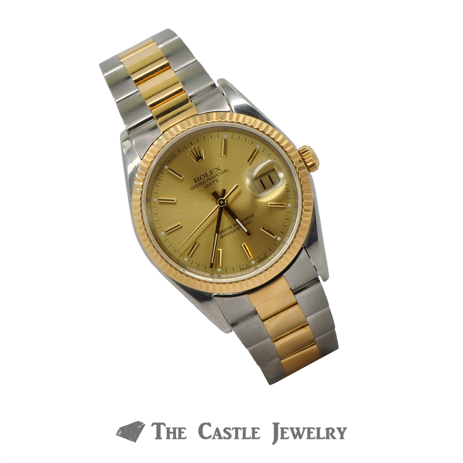 Rolex Date Model 15203 | 18K & Steel Oyster Bracelet | 2 Year Warranty-2