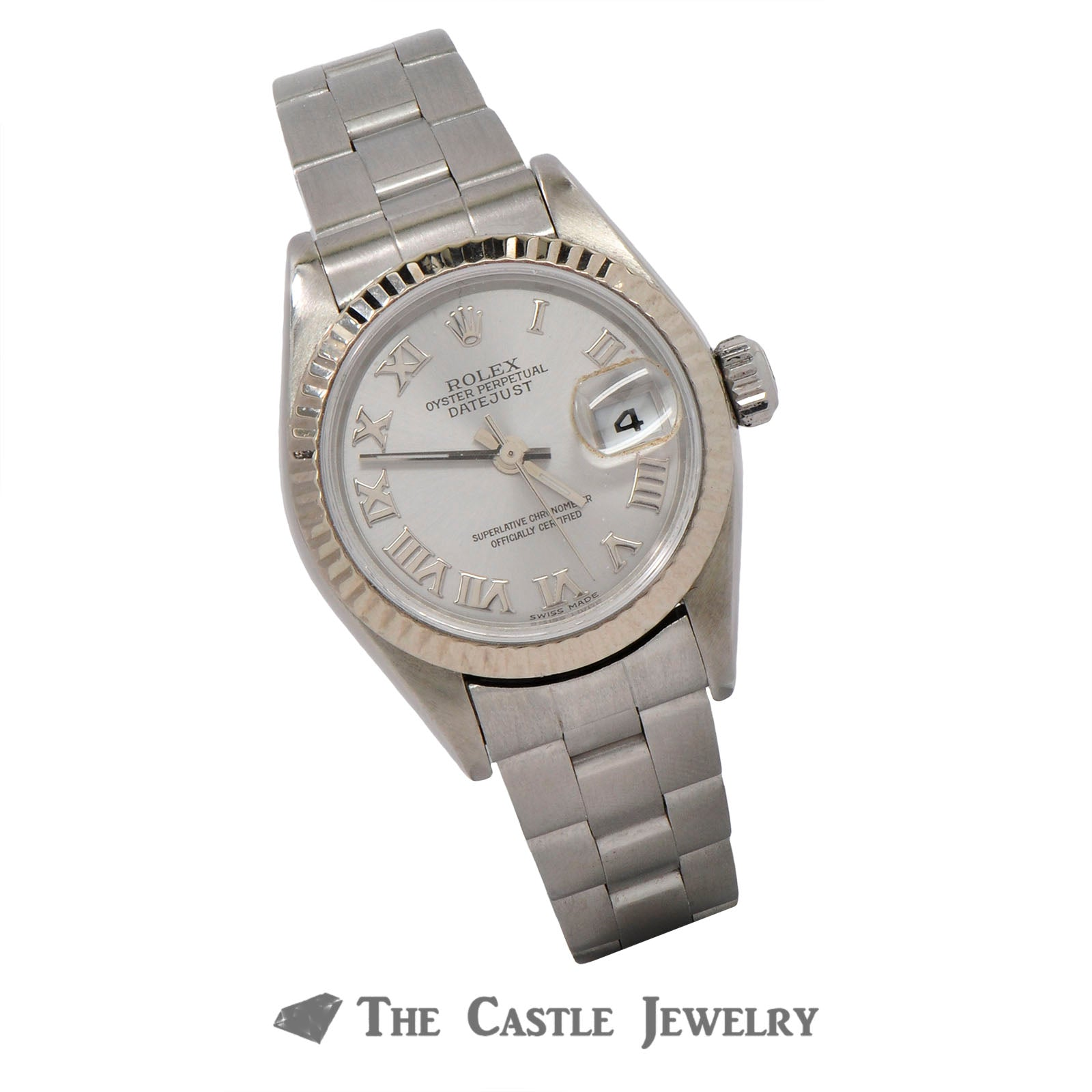 Rolex Datejust ref. 79174 Grey Roman Numeral Dial & Stainless Oyster Bracelet-2