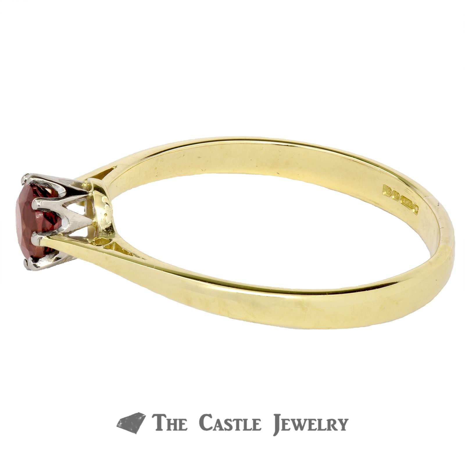 Solitaire Pink Tourmaline Ring In 18K Yellow Gold-2