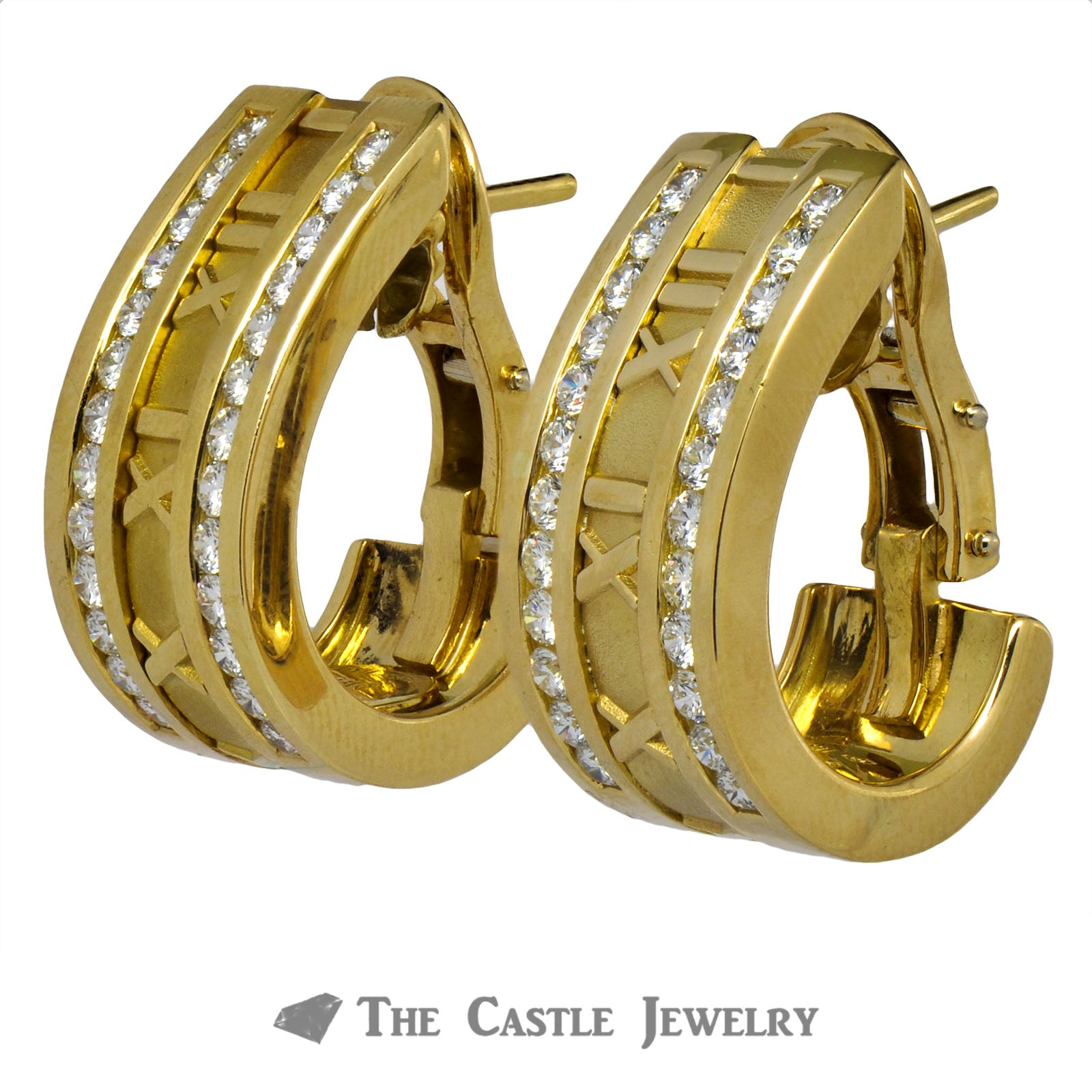 Tiffany & Co. Atlas Hoops/Modifiable Clip-on Earrings with Roman Numerals