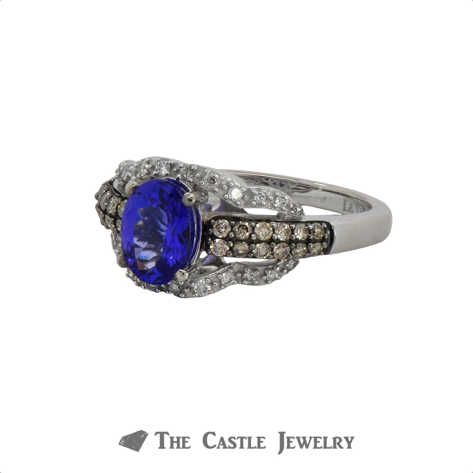 LeVian Tanzanite and Diamond Ring in 10K White Gold-2