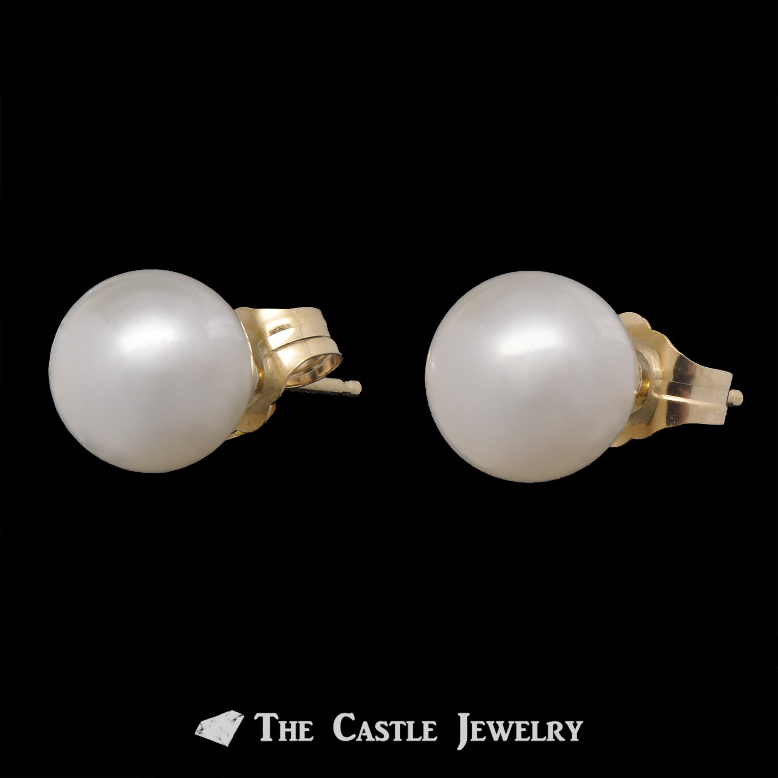 7-7.5mm Pearl Stud Earrings in 14K Gold-1