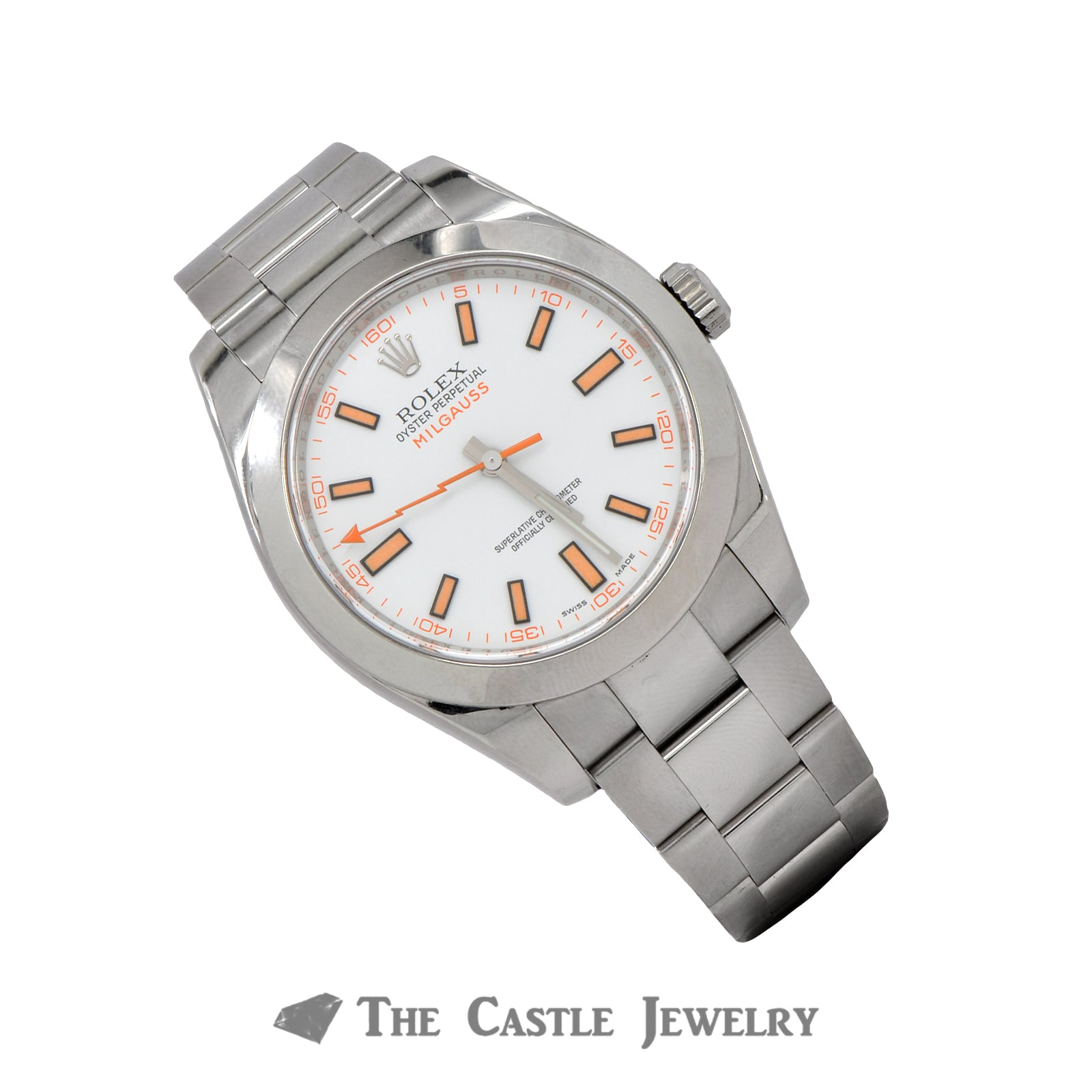 Discontinued Rolex Milgauss Watch  116400 White Dial Oyster Bracelet-2