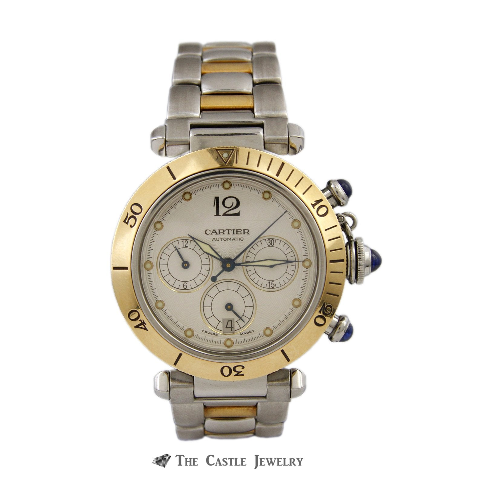Cartier Pasha de Cartier Watch 18K & Steel 38mm Chronograph Ref. 2113