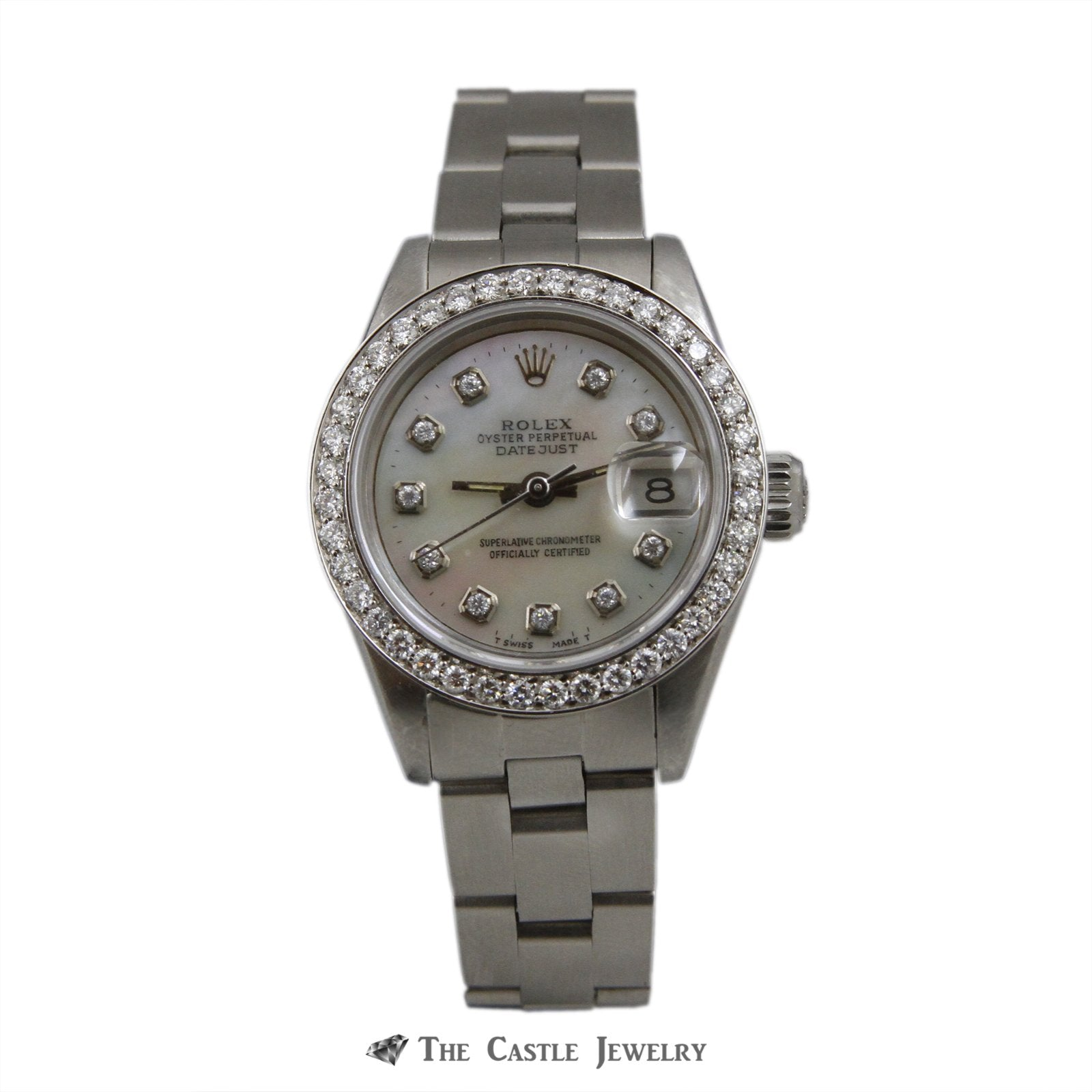 Rolex Datejust 26mm Watch Stainless Steel w/ Mother of Pearl Diamond Dial & Bezel 69160