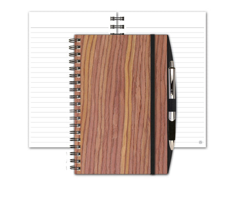 Woodgrain Notebook with Penport & Pen by Journalbooks®