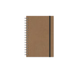 Notebook with Graph Paper, Brown Linen Journal, JournalBooks®, Wirebound Journal