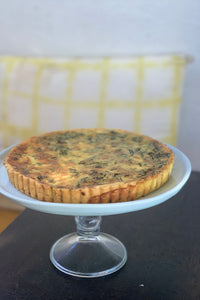 Savoury tart with spinach and parmesan