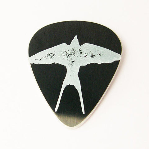 Swallow Silhouette Guitar Pick by Sally Lees