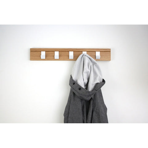 45 Coat Rail - Oak by John Green Designs