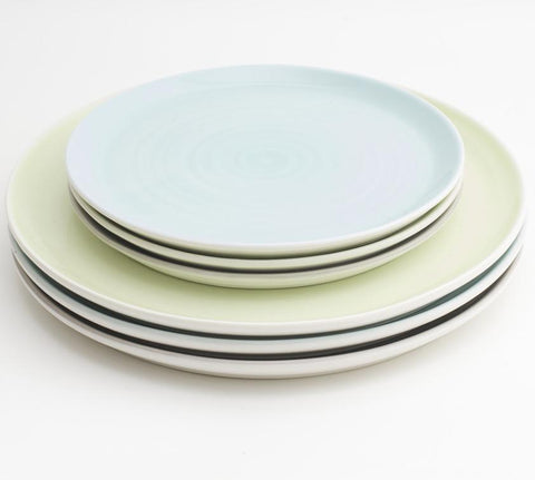Tactile Coloured Plate by Linda Bloomfield