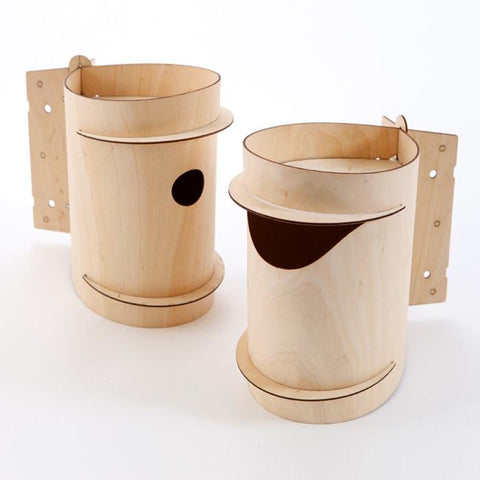 Mr and Mrs Birdee Bird Boxes by Desinature