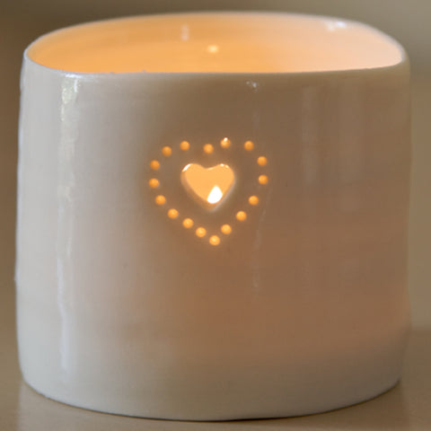Luna Mini Double Heart Tealight by Luna Lighting.