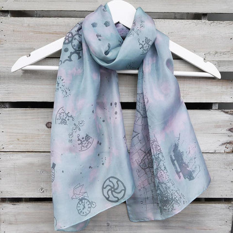 Time Travel Silk Scarf by Amanda Jane's