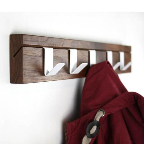 45 Coat Rail – Walnut by John Green Designs