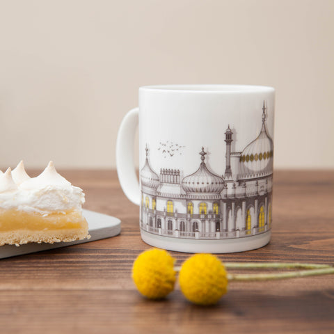 Brighton Pavillion Bone China Mug by Linescapes