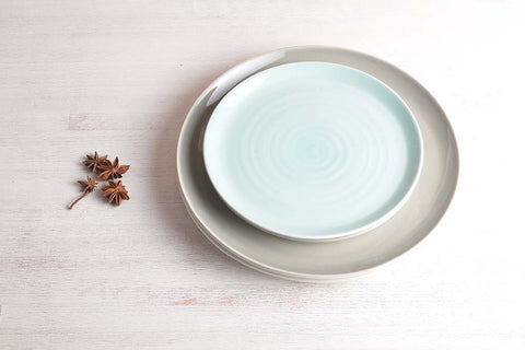 tactile Coloured Plate by Linda Bloomfield, porcelain