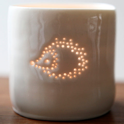 Mini Hedgehog Tealight by Luna Lighting