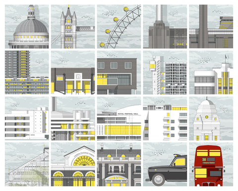Box Set of 20 Mini Prints by Linescapes