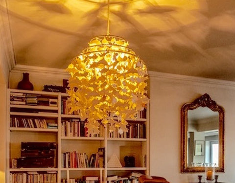 Porcelain Fish Chandelier by Luna Lighting