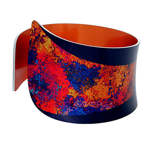 Starburst Orange Bangle by Pixalum