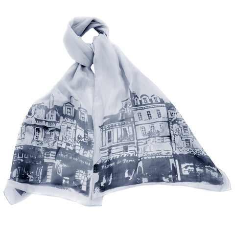 Streets of Paris Silk Scarf