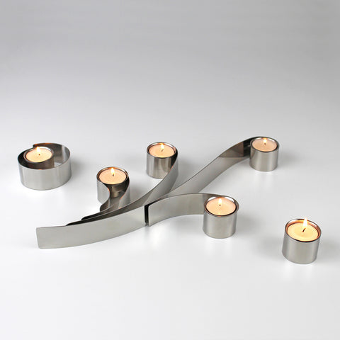 Swirl Tealight Holder - set of 6 by Headsprung