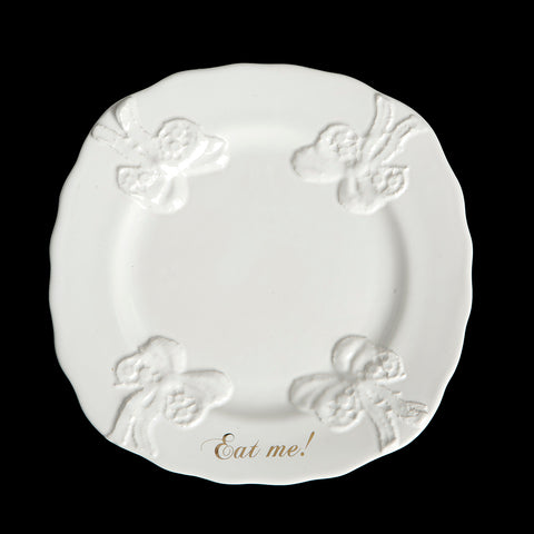 Blaue Blume Eat Me Cake Plate by Undergrowth Design