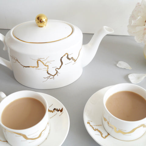 Thames Tea Set in Gold by Snowden Flood