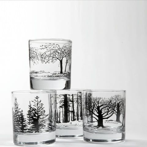 Tree Glasses in Black by Snowden Flood