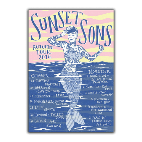 Autumn Tour 2014 Screen Print