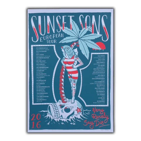 Very Rarely Say Die Spring Tour Print