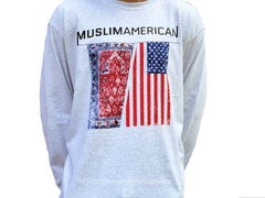 MuslimAmerican Long Sleeve Grey Shirt