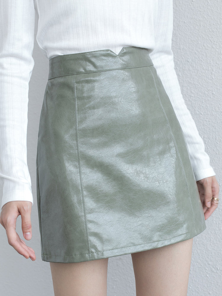 1046 leather skirt