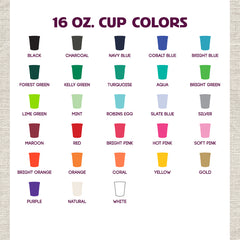 16 oz. Stadium Cup Colors
