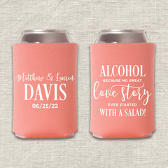 Alcohol Wedding Koozie