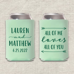 All of Me Wedding Koozie