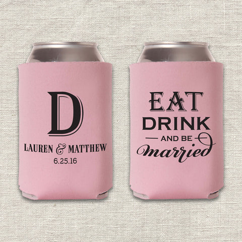 Eat, Drink & Be Married Can Cooler