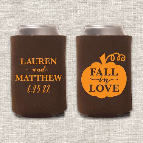 Fall in Love Pumpkin Can Cooler
