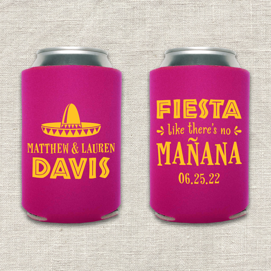 Fiesta Like There's No Mañana Wedding Koozie