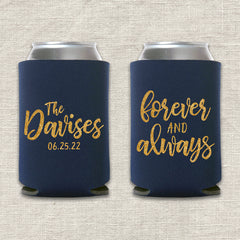 Forever and Always Wedding Koozie