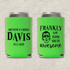 Frankly Frankenstein Halloween Wedding Koozie