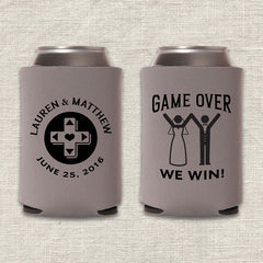Game Over Wedding Koozie