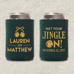 Get Your Jingle On Christmas Wedding Koozie