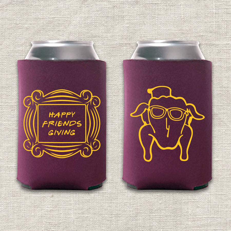 Happy Friends Giving Koozie
