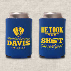 He Took the Shot Hockey Wedding Koozie
